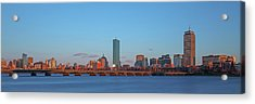 Boston Golden Hour Acrylic Print by Juergen Roth
