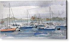 Boston Harbor  Acrylic Print by Julie Lueders
