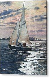 Boston Harbor Acrylic Print by Karol Wyckoff