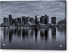 Boston In Monochrome Acrylic Print