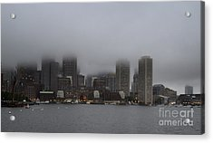 Boston In The Fog Acrylic Print