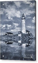 Acrylic Print featuring the photograph Boston Light  by Ian Mitchell