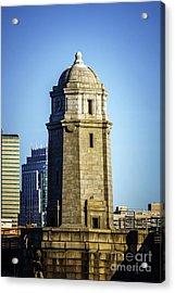 Boston Longfellow Bridge Tower Photo Acrylic Print