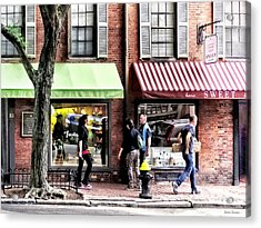 Boston Ma - Street With Candy Store And Bakery Acrylic Print