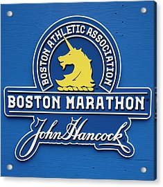 Acrylic Print featuring the photograph Boston Marathon - Boston Athletic Association by Joann Vitali