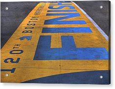 Boston Marathon Finish Line Acrylic Print by Joann Vitali