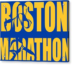 Boston Marathon Acrylic Print