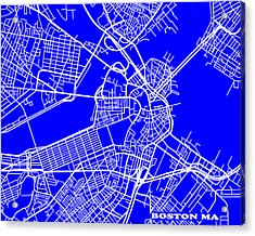 Boston Massachusetts City Map Streets Art Print   Acrylic Print