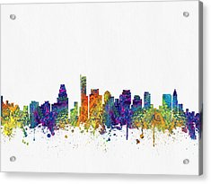 Boston Massachusetts Skyline Color03 Acrylic Print