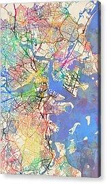 Boston Massachusetts Street Map Extended View Acrylic Print