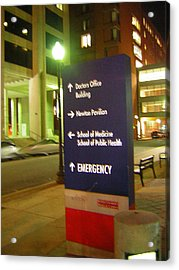 Boston Medical At Night Acrylic Print by Heather Weikel