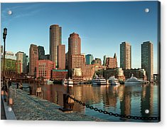 Boston Morning Skyline Acrylic Print