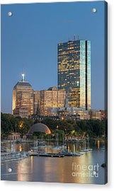 Boston Night Skyline Iv Acrylic Print by Clarence Holmes