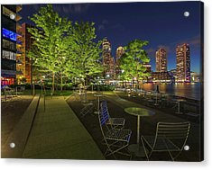 Acrylic Print featuring the photograph Boston Nightlife by Juergen Roth