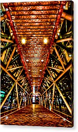 Boston Nightscape Acrylic Print by Andrew Kubica