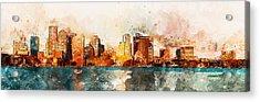 Boston, Panorama - 10 Acrylic Print