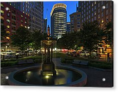 Acrylic Print featuring the photograph Boston Park Plaza Hotel by Juergen Roth