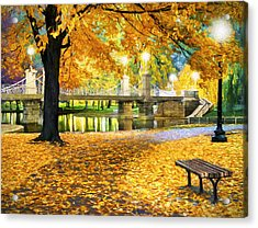 Boston Public Garden Acrylic Print by James Charles