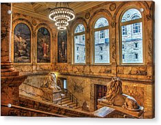 Acrylic Print featuring the photograph Boston Public Library Architecture by Joann Vitali