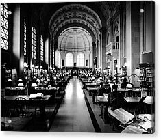 Boston Public Library... Or Hogwarts? Acrylic Print by JMerrickMedia