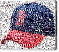 Boston Red Sox Cap Mosaic Acrylic Print