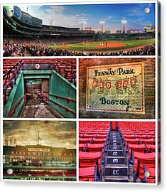 Boston Red Sox Collage - Fenway Park Acrylic Print by Joann Vitali