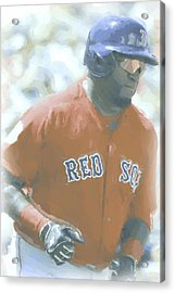 Boston Red Sox David Ortiz 2 Acrylic Print by Joe Hamilton