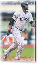 Boston Red Sox David Ortiz Acrylic Print by Joe Hamilton