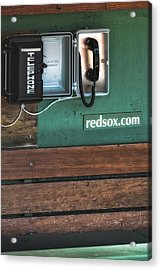 Boston Red Sox Dugout Telephone Acrylic Print by Susan Candelario