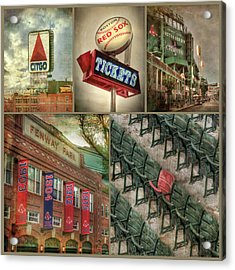 Boston Red Sox Fenway Park Collage Acrylic Print