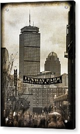 Boston Red Sox - Fenway Park - Lansdowne St. Acrylic Print by Joann Vitali