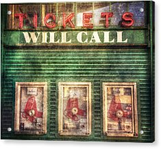 Boston Red Sox Fenway Park Ticket Booth Acrylic Print