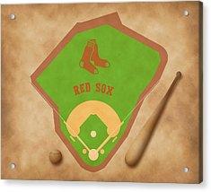 Boston Red Sox Field Acrylic Print by Carl Scallop