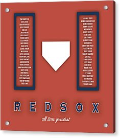Boston Red Sox Art - Mlb Baseball Wall Print Acrylic Print by Damon Gray