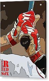 Boston Red Sox Original Typography Baseball Team  Acrylic Print
