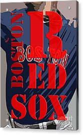 Boston Red Sox  Acrylic Print by Pablo Franchi