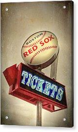 Boston Red Sox Vintage Baseball Sign Acrylic Print