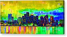 Boston Skyline 101 - Pa Acrylic Print