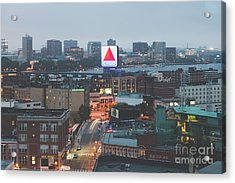 Boston Skyline Aerial Citgo Sign Photo Acrylic Print by Paul Velgos