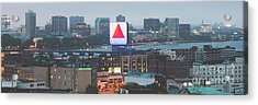 Boston Skyline Aerial Panorama Photo Acrylic Print by Paul Velgos