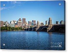 Boston Skyline And Longfellow Bridge Photo Acrylic Print