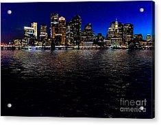 Boston Skyline At Twilight Acrylic Print by Tamyra Ayles