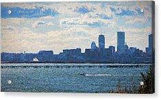 Boston Skyline From Deer Island Acrylic Print