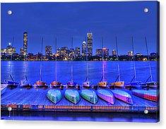 Boston Skyline From Mit Sailing Pavilion Acrylic Print