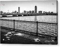 Boston Skyline Harvard Bridge Back Bay Photo Acrylic Print