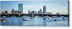 Boston Skyline Longfellow Bridge Panorama Photo Acrylic Print