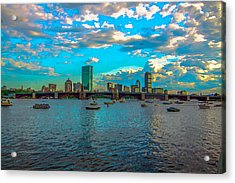 Boston Skyline Painting Effect Acrylic Print