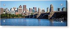 Boston Skyline Panorama With Longfellow Bridge Acrylic Print