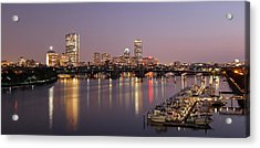 Boston Skyline Photography Acrylic Print by Juergen Roth