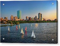 Boston Skyline Summer 2018 Acrylic Print